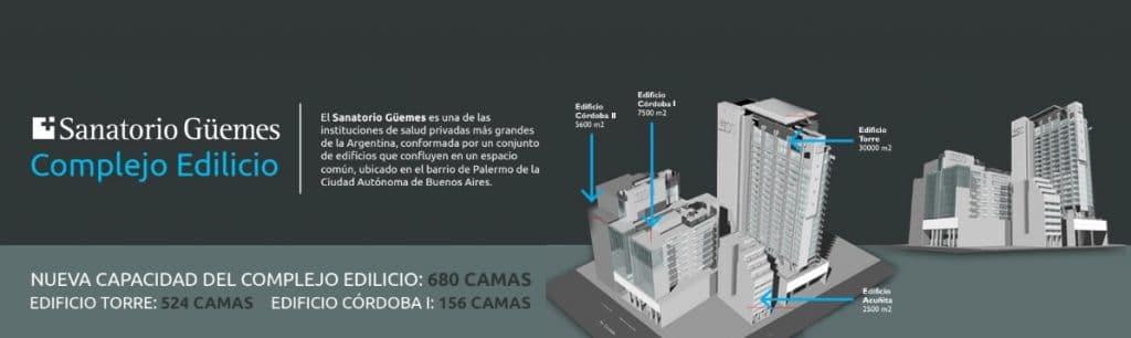 Complejo edilicio del Sanatorio Guemes
