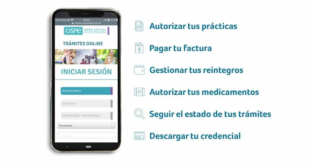 App de OSPe para celulares, otra forma de realizar tus gestiones sin necesidad de llamar por teléfono a la obra social petrolera